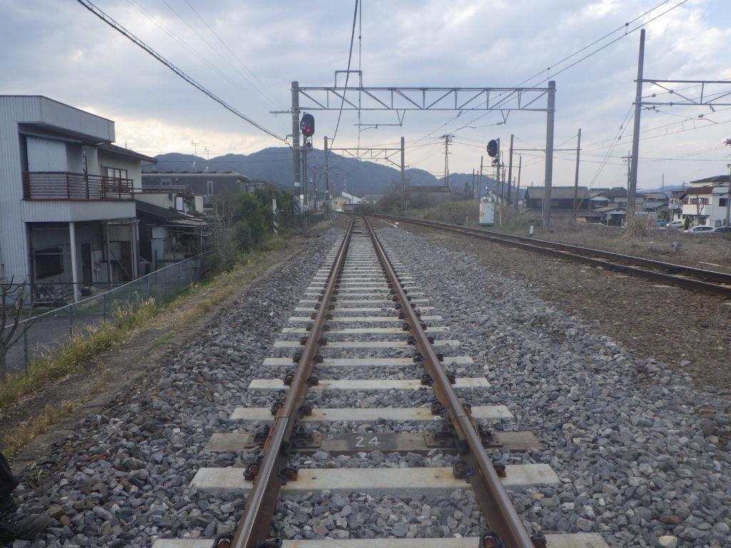 貴生川構内 線路切替工事 ③